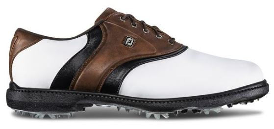 Foot Joy FJ Originals Golf Shoes - White/Brown 45330
