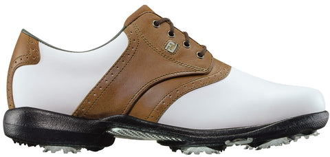 Foot Joy Womens DryJoys Golf Shoes - White/Luggage Brown 99015