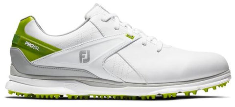 Foot Joy 2020 Pro/SL Spikeless Golf Shoes - White/Lime 53805