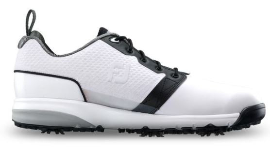 Foot Joy Contour Fit Golf Shoes - White/White/Black 54091