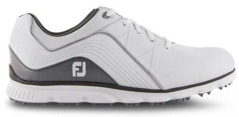FootJoy 2019 Pro/SL Spikeless Golf Shoes - White/Grey 53267