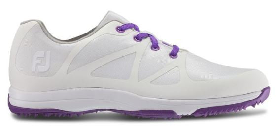 Foot Joy Women's Leisure Golf Shoes - White/Purple 92901