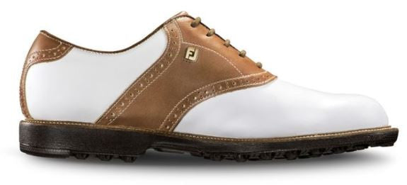 Foot Joy Club Professionals Golf Shoes - White/Bomber Taupe 57002