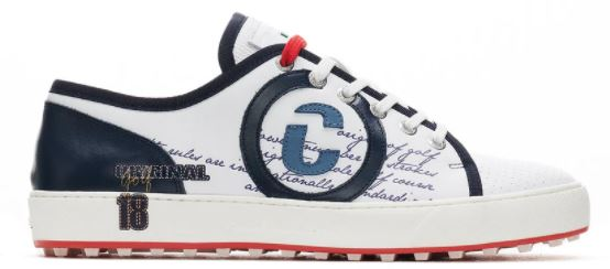 Duca Del Cosma FLORIDA White/Navy Golf Sport Shoes