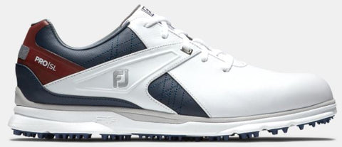 Foot Joy 2020 Pro/SL Spikeless Golf Shoes - White/Navy/Maroon 53848