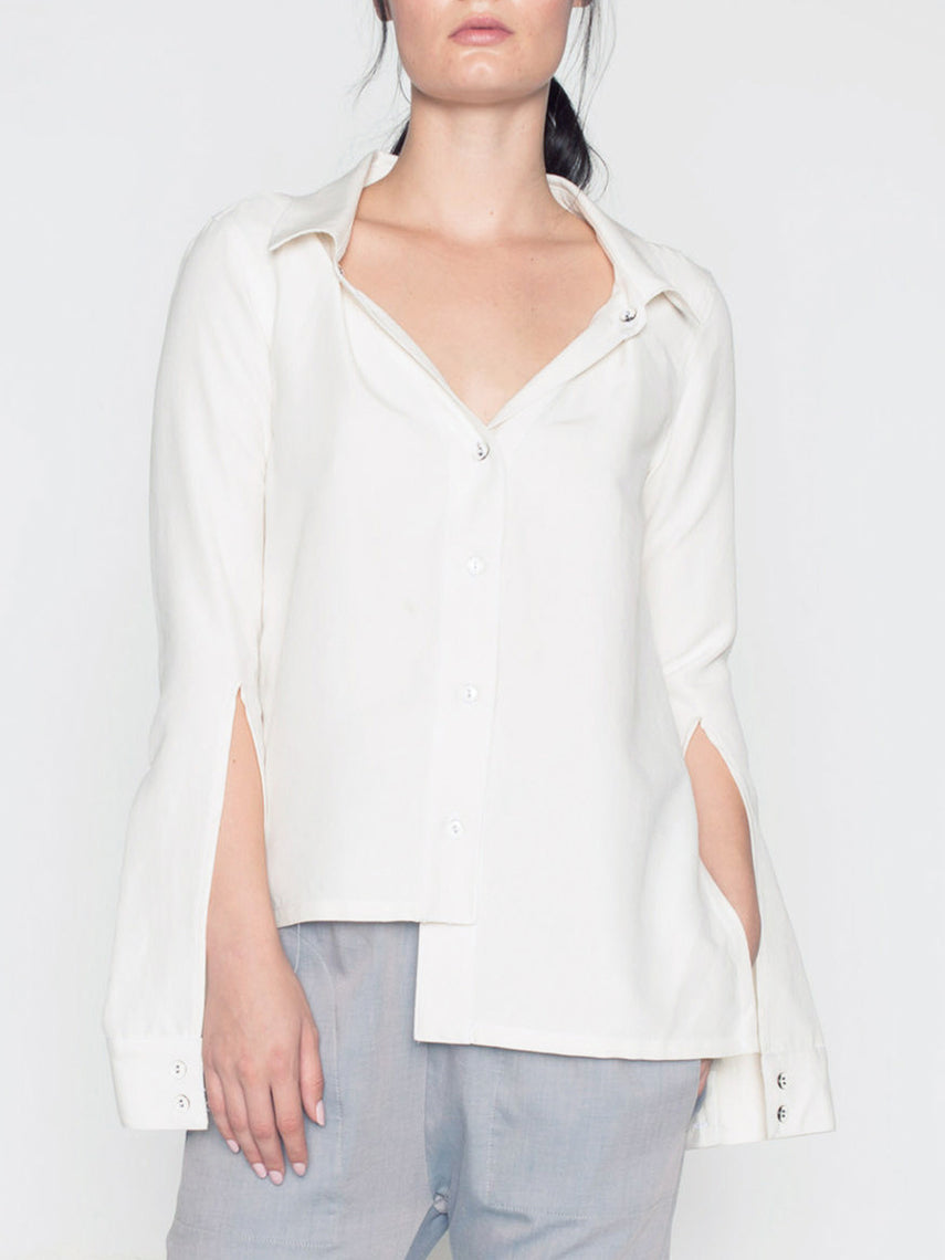 Vanessa Button-Down Top / Ivory, Women's, Clothing, Apparel - Drifter Industries