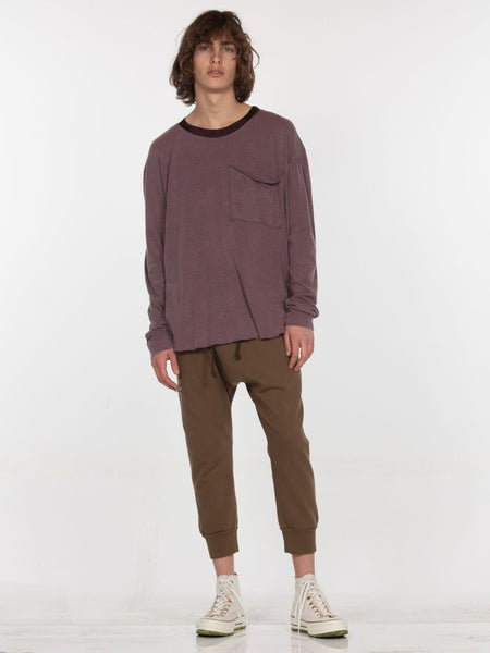 Teide Long Sleeve Top / Burgundy Pigment