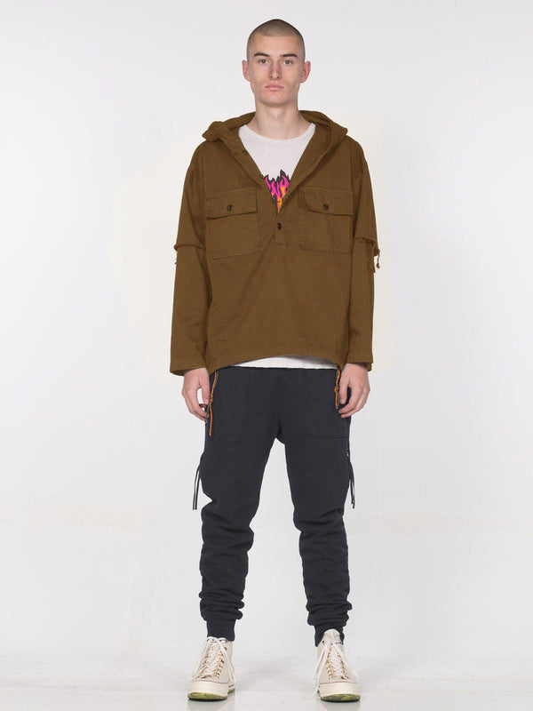 Webster Hooded Pullover / Sepia