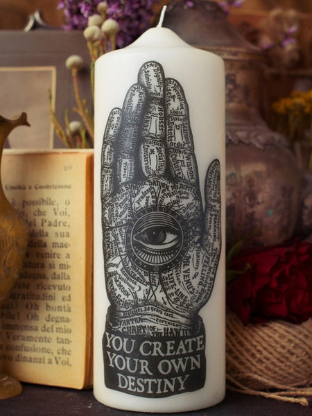 Palmistry - Visionary Pillar Candle