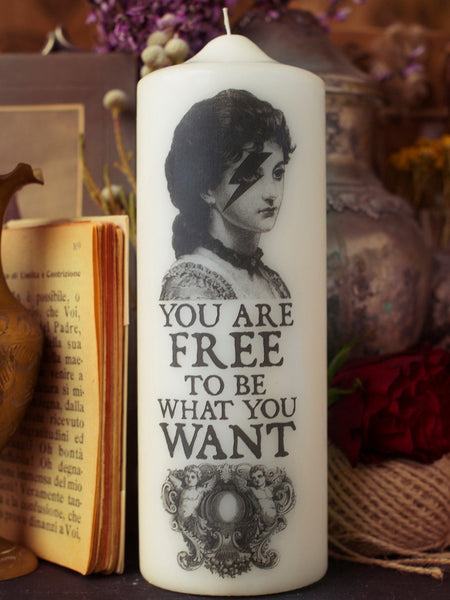 You Are Free - Visionary Pillar Candle