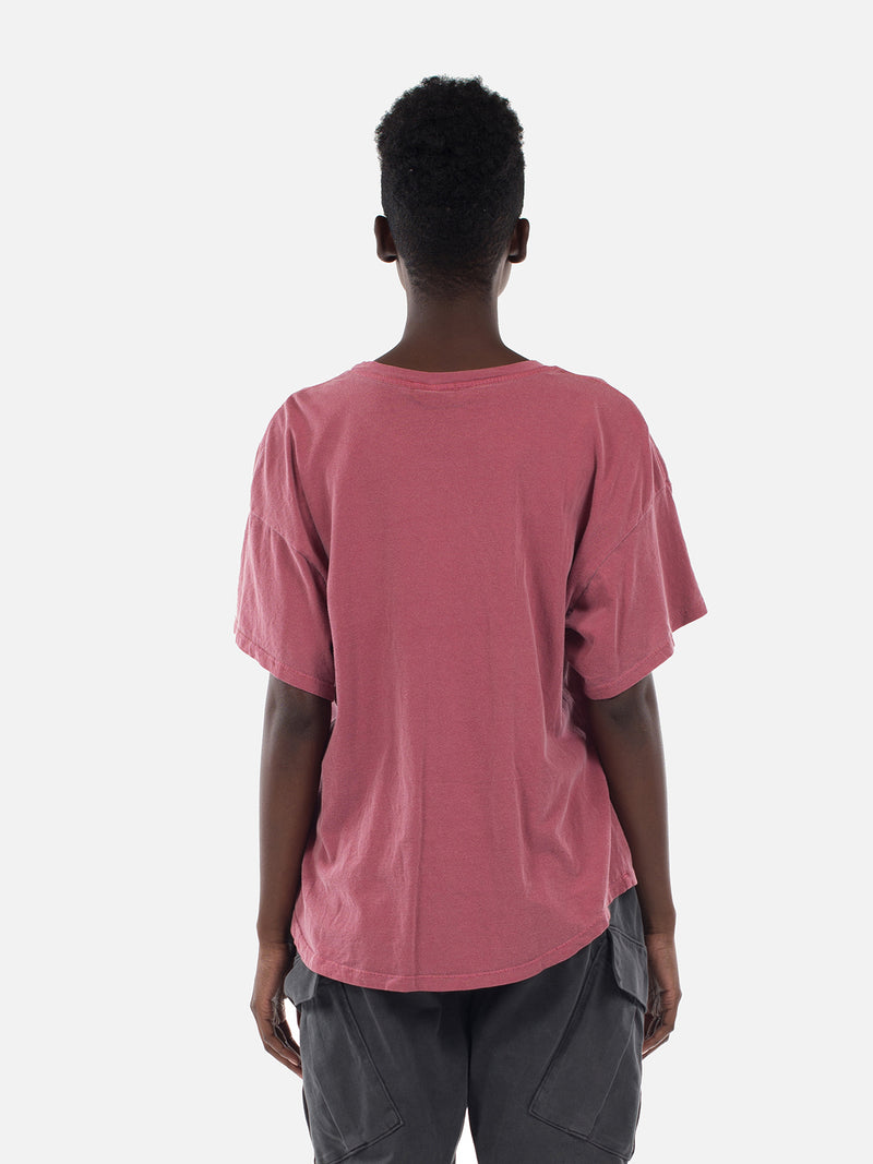 Wwynn Oversized Tee / Washed Burgundy