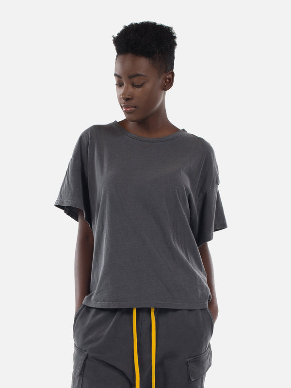 Wynn Oversized Tee / Washed Black, Women's, Clothing, Apparel - Drifter Industries