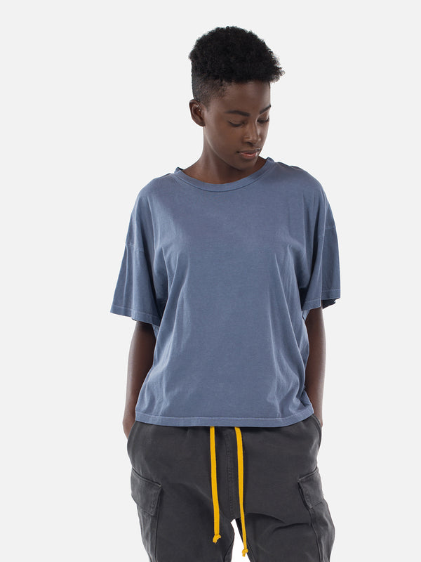 Wynn Oversized Tee / Washed Blue, Women's, Clothing, Apparel - Drifter Industries