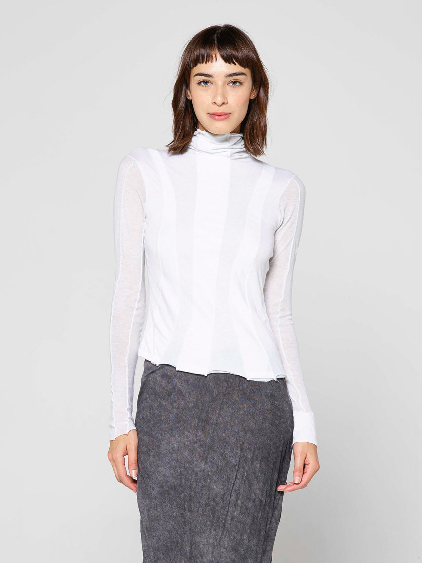 Emma Turtleneck Paneled Top