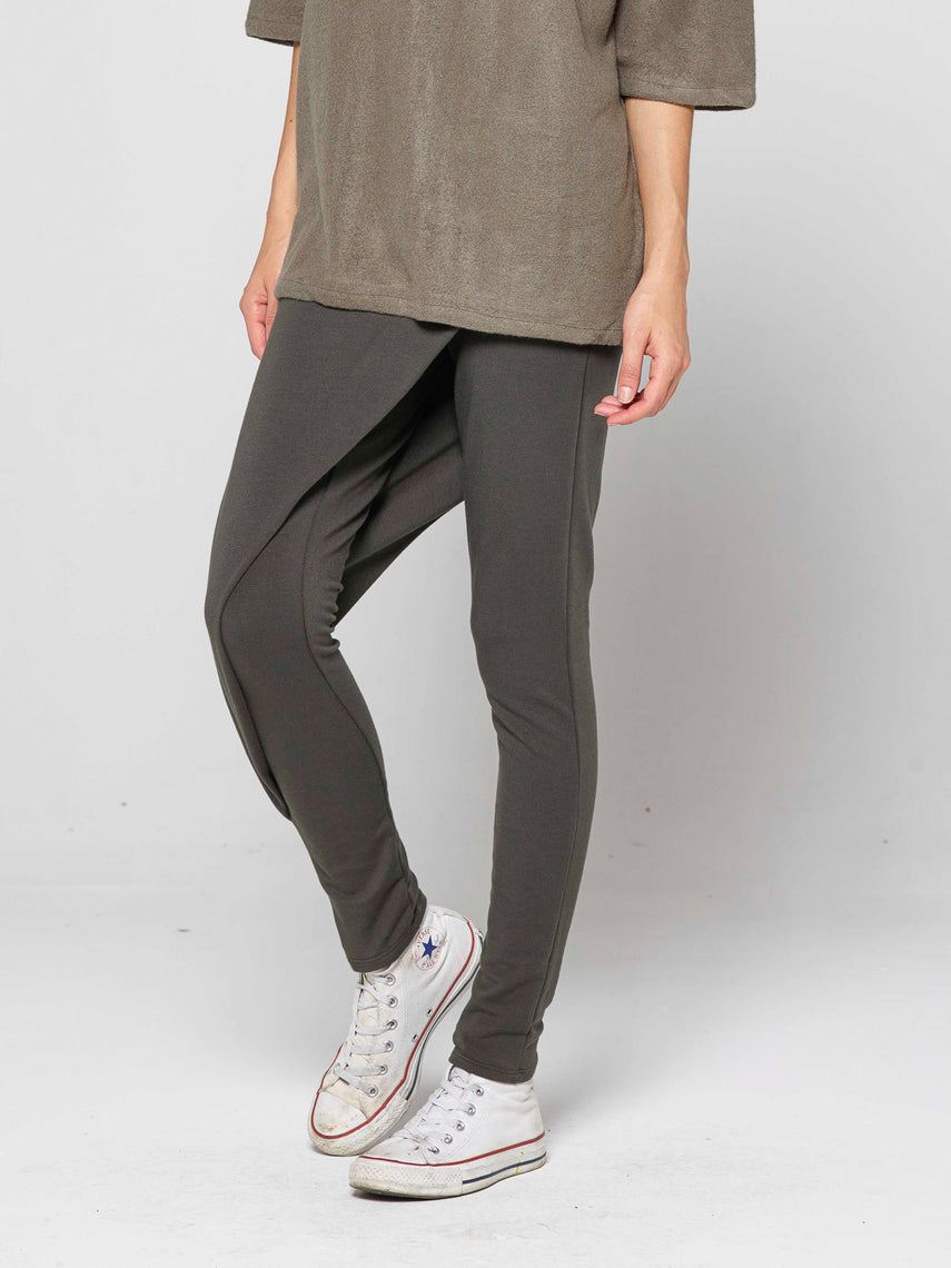 Hathor Origami Panel Legging / Olive, Women's, Clothing, Apparel - Drifter Industries