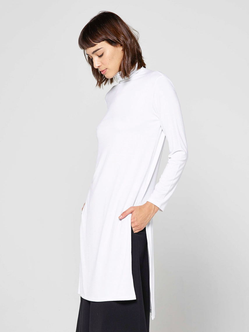 Qadira Long Sleeve Top / White, Women's, Clothing, Apparel - Drifter Industries