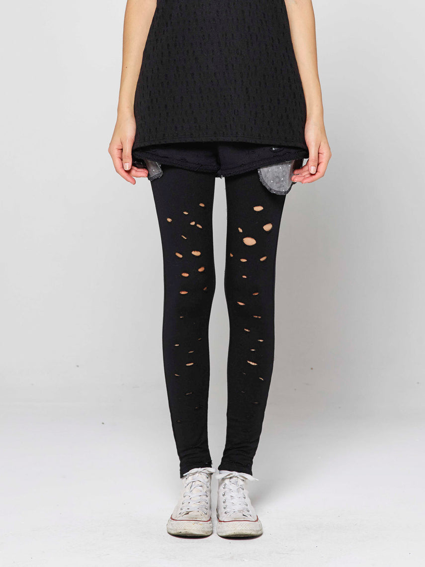 Ferra Short w/ Distressed Legging