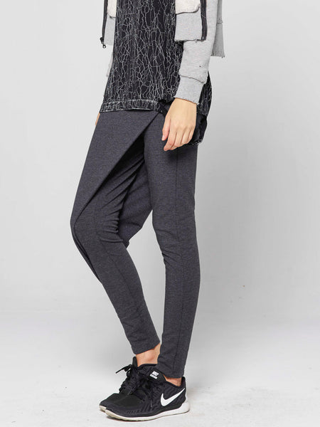 Hathor Origami Panel Legging / Charcoal Heather, Women's, Clothing, Apparel - Drifter Industries