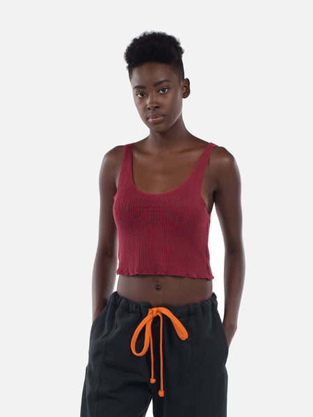Clemente Crop Top / Burgundy, Women's, Clothing, Apparel - Drifter Industries