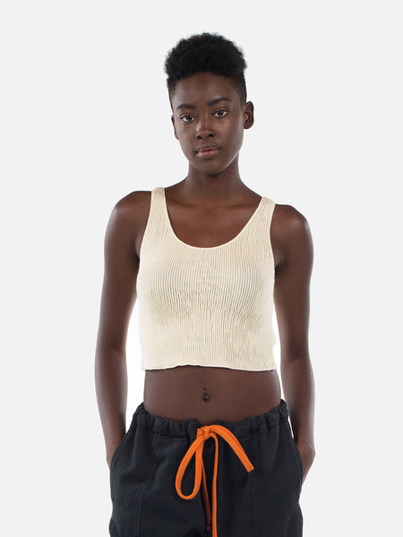 Clemente Crop Top / Transparent Yellow, Women's, Clothing, Apparel - Drifter Industries