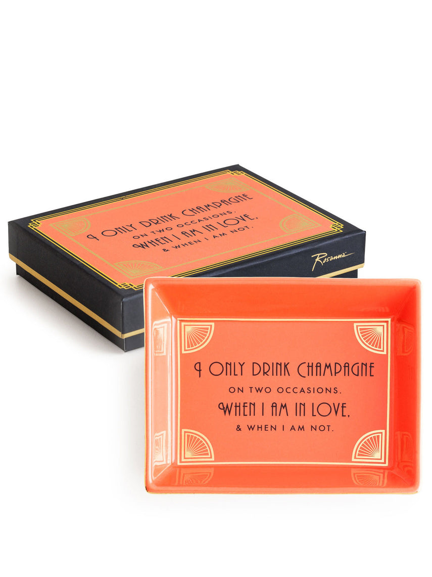 "Jazz Age Tray ""I Only Drink Champagne When I Am in Love"""