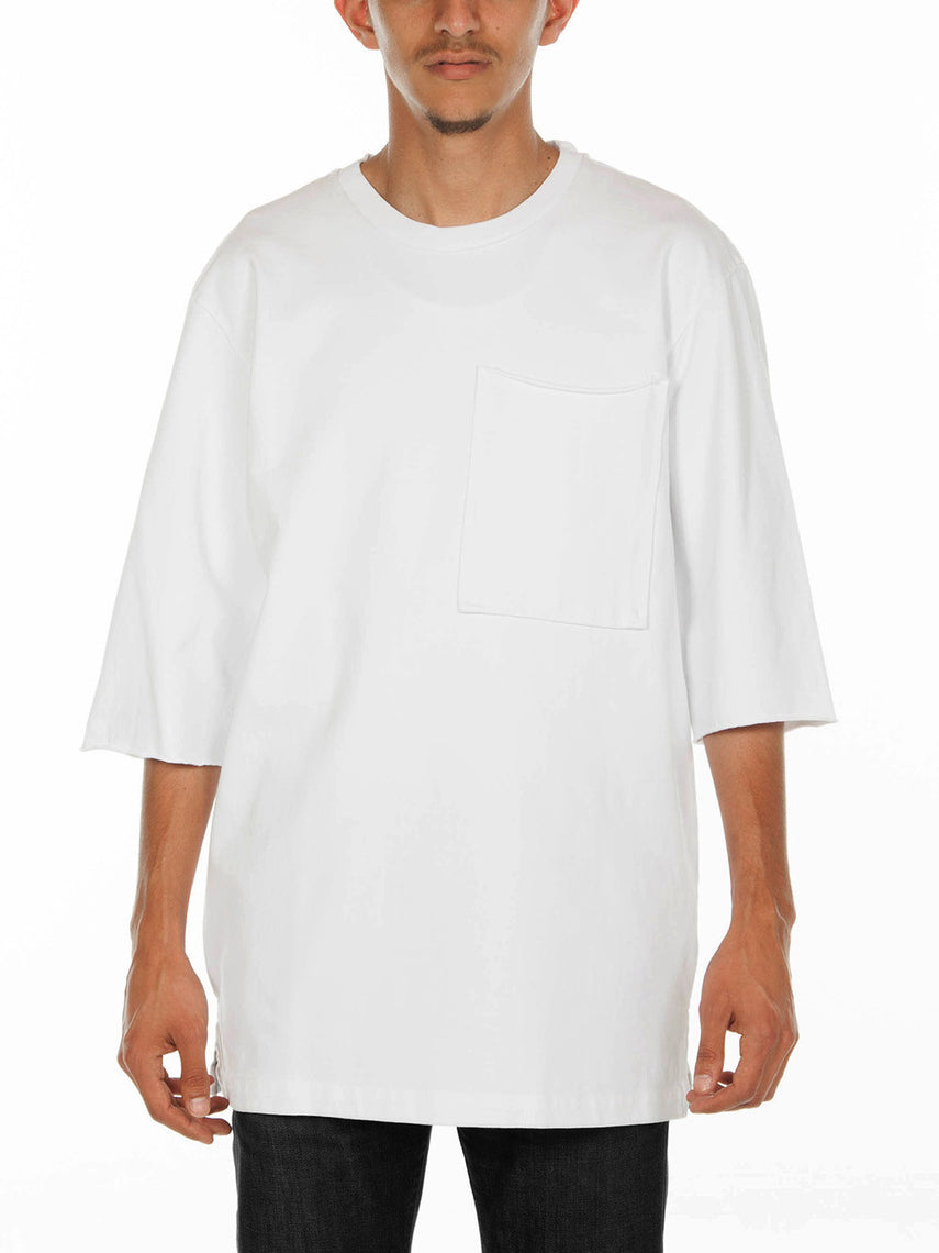 Auron Crew Neck Top / White