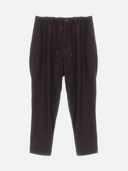 Henderson Pleated Elastic Waist Trouser / Maroon, , Clothing, Apparel - Drifter Industries