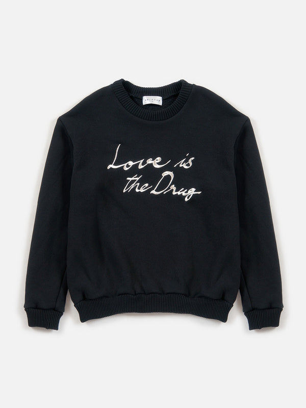 FW18 Love is the Drug Pullover / Black