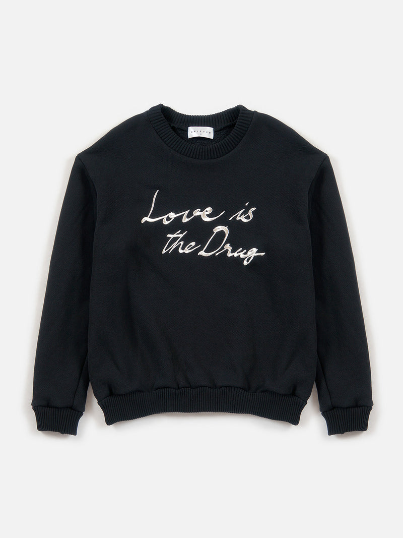 Love is the Drug Pullover / Black, , Clothing, Apparel - Drifter Industries