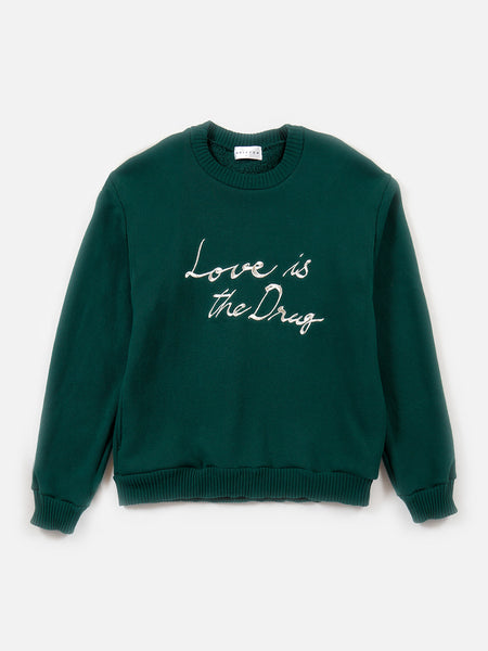 FW18 Love is the Drug Pullover / Green