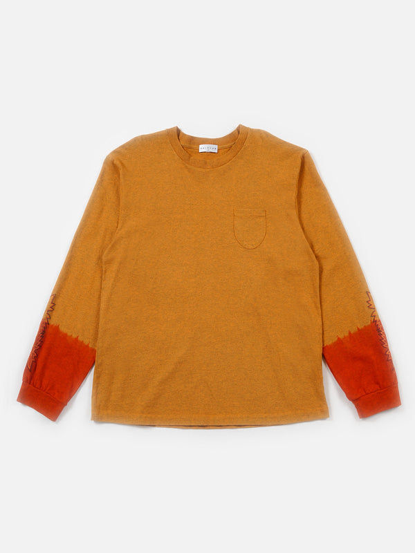 FW18 Kojak Dip-Dye Long Sleeve Tee / Orange