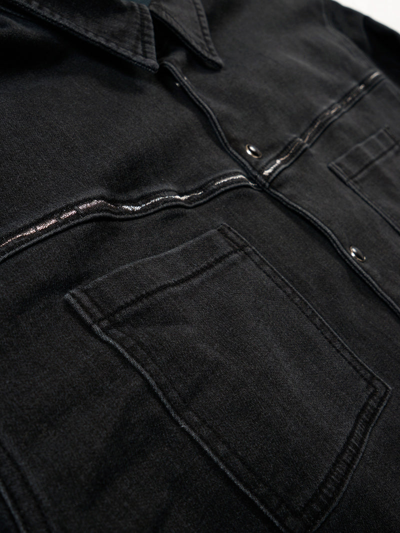 Hutch Black Indigo Shirt / Black Indigo, Men's, Clothing, Apparel - Drifter Industries