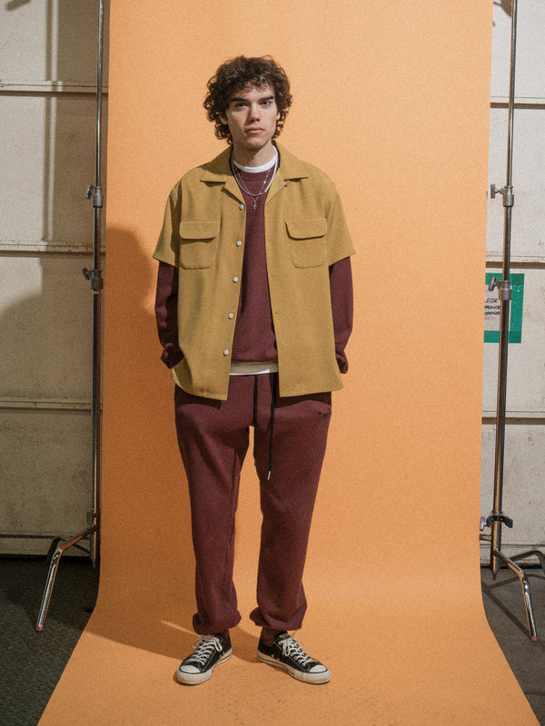 Fields Open Collar Shirts / Mineral Yellow