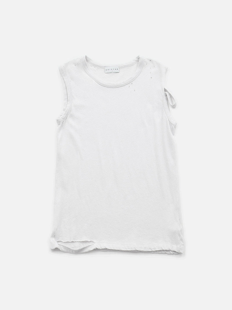 Veran Distressed Tank / Vintage White, Women's, Clothing, Apparel - Drifter Industries