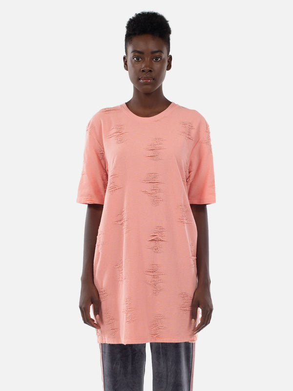 Bella T-Shirt Dress / Coral Almond, Women's, Clothing, Apparel - Drifter Industries