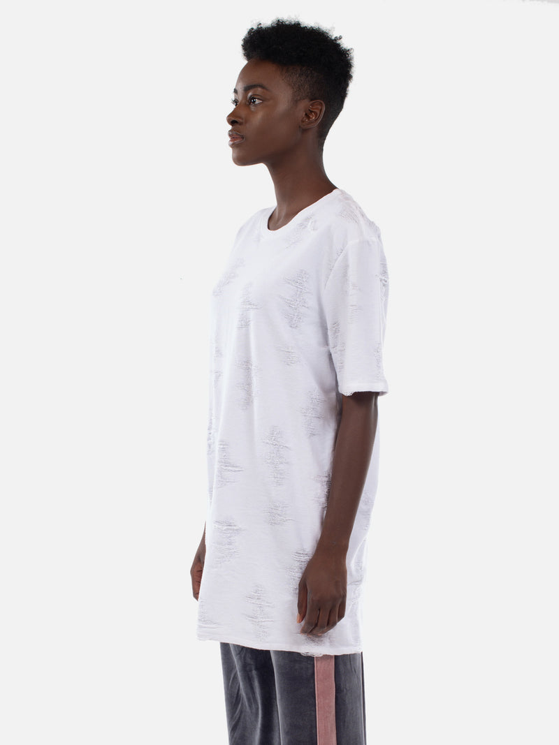 Bella T-Shirt Dress / White, Women's, Clothing, Apparel - Drifter Industries