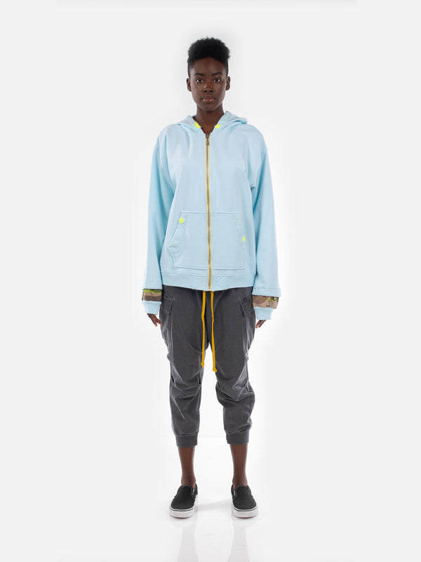 Oya Hoodie / Pastel Blue, Men's, Clothing, Apparel - Drifter Industries