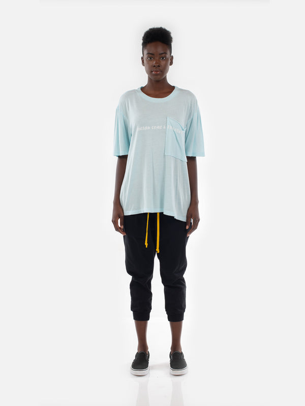 Ibidem Crew Neck Top / Pastel Blue