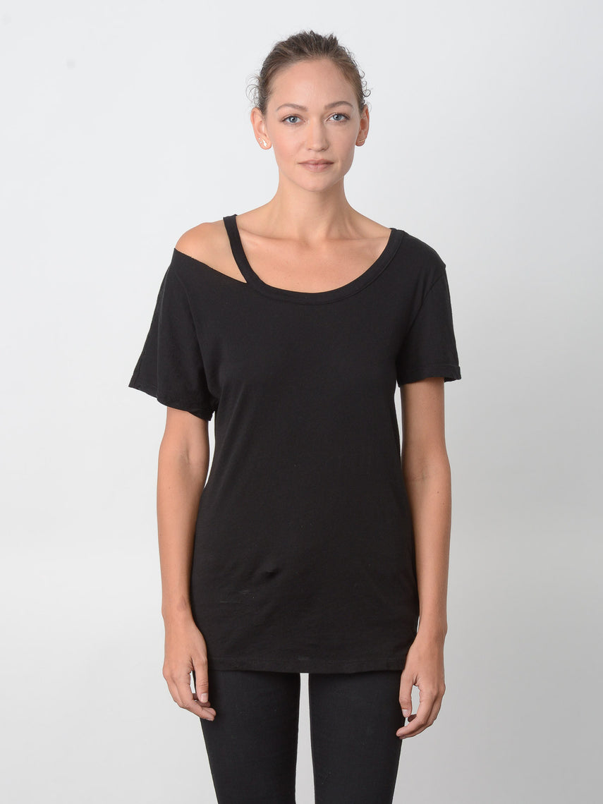 Sonata Loose Neckband Tee / Black, Women's, Clothing, Apparel - Drifter Industries