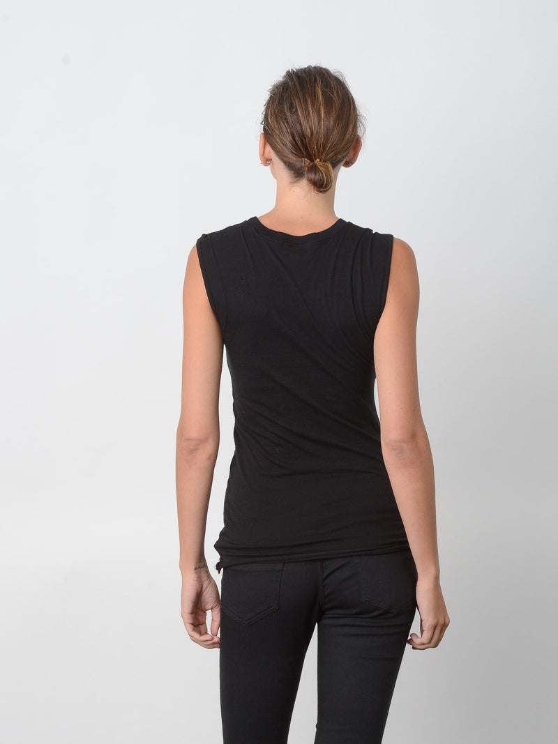 Persistance Fitted Muscle Tank / Black, Women's, Clothing, Apparel - Drifter Industries