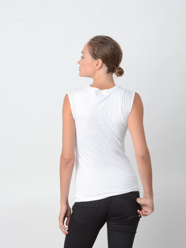Persistance Fitted Muscle Tank / White, Women's, Clothing, Apparel - Drifter Industries