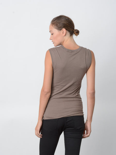 Persistance Fitted Muscle Tank / Walnut, Women's, Clothing, Apparel - Drifter Industries