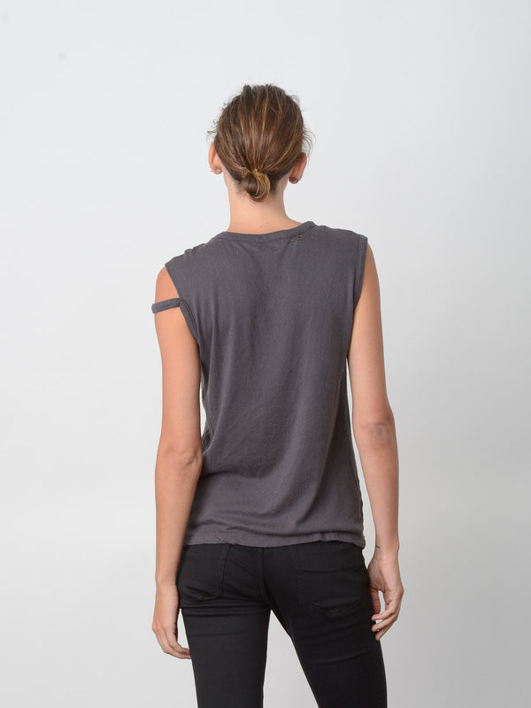 Veran Distressed Tank / Vintage Black, Women's, Clothing, Apparel - Drifter Industries