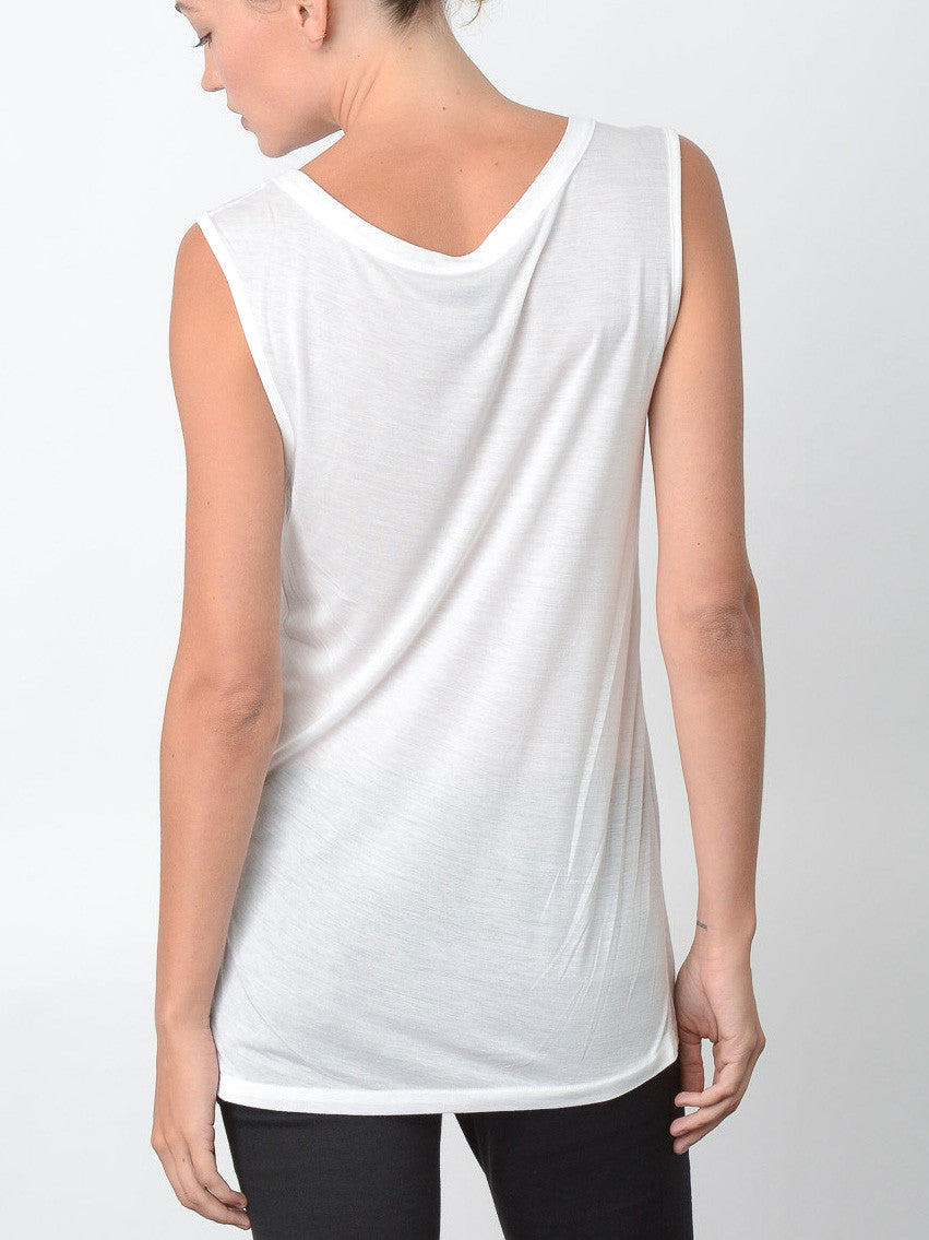Millenium Relaxed Fit Tank / White, Women's, Clothing, Apparel - Drifter Industries