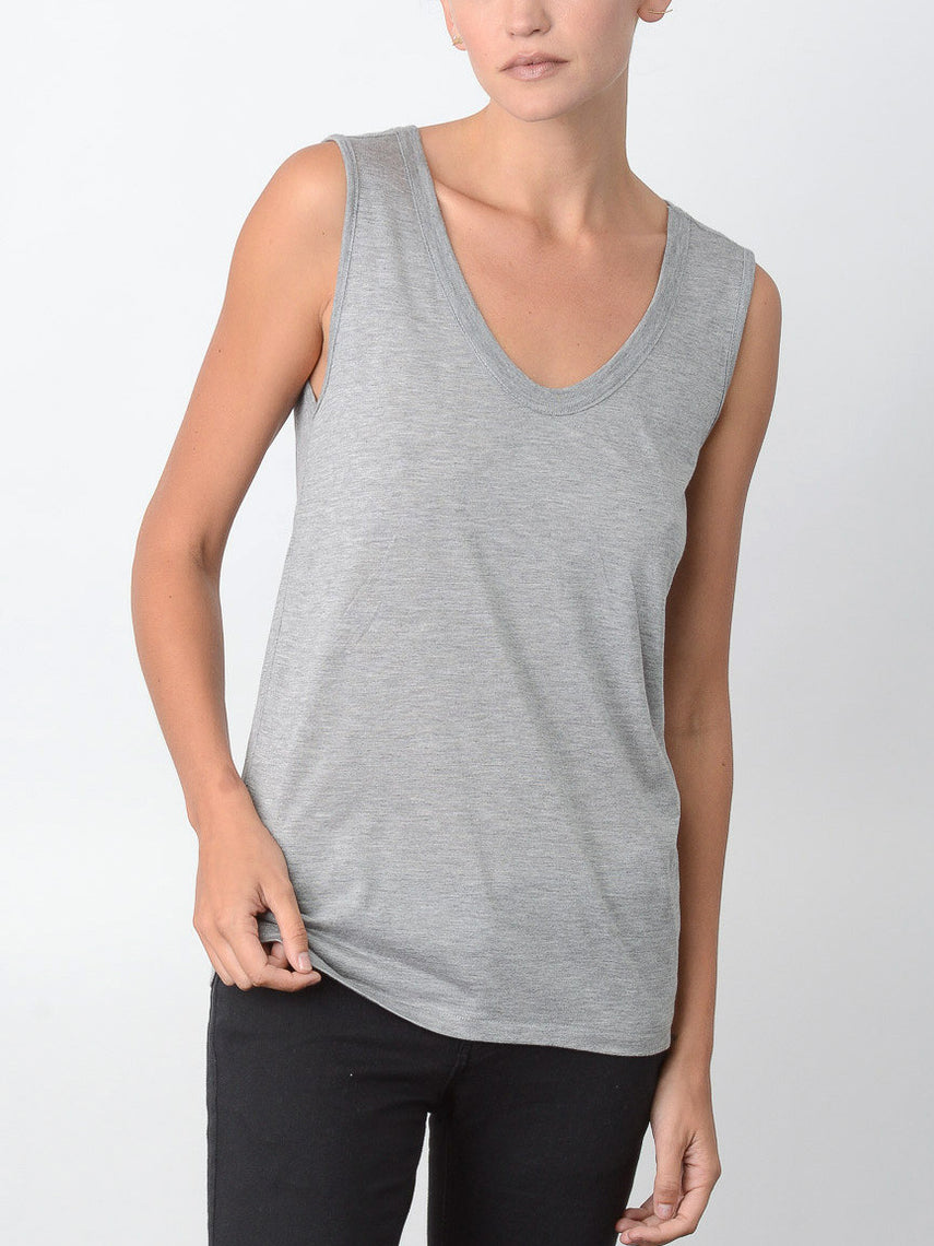 Millenium Relaxed Fit Tank / Heather Grey, Women's, Clothing, Apparel - Drifter Industries