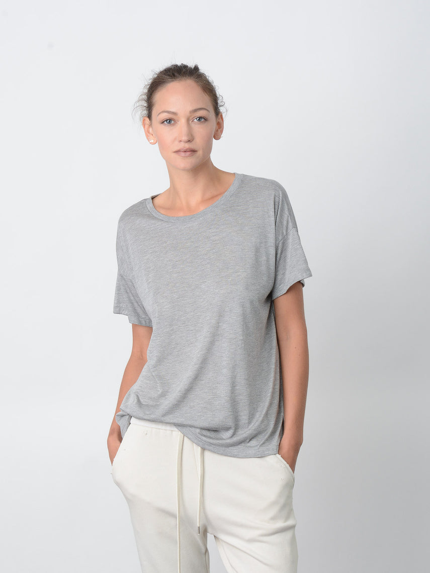 Cavil Relaxed Fit Tee / Heather Grey, Women's, Clothing, Apparel - Drifter Industries