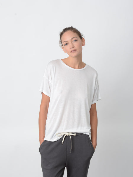 Cavil Relaxed Fit Tee / Ivory, Women's, Clothing, Apparel - Drifter Industries