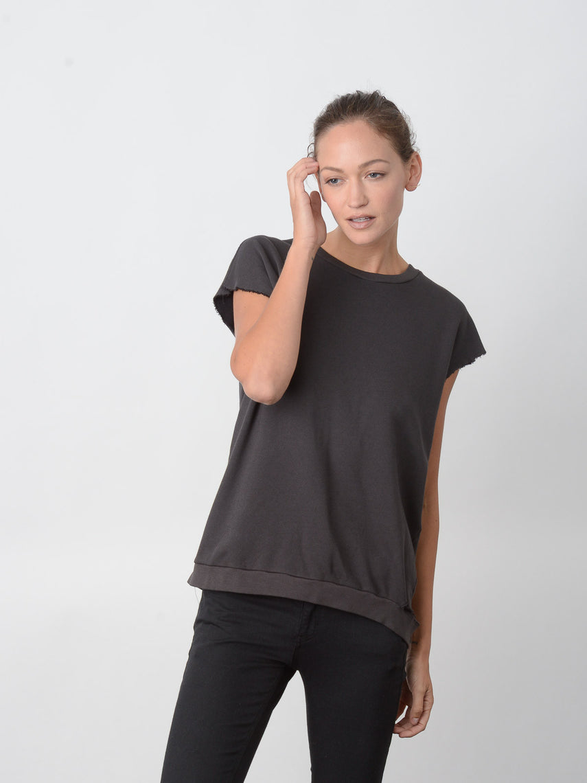 Marquess Sleeveless Sweatshirt / Vintage Black, Women's, Clothing, Apparel - Drifter Industries