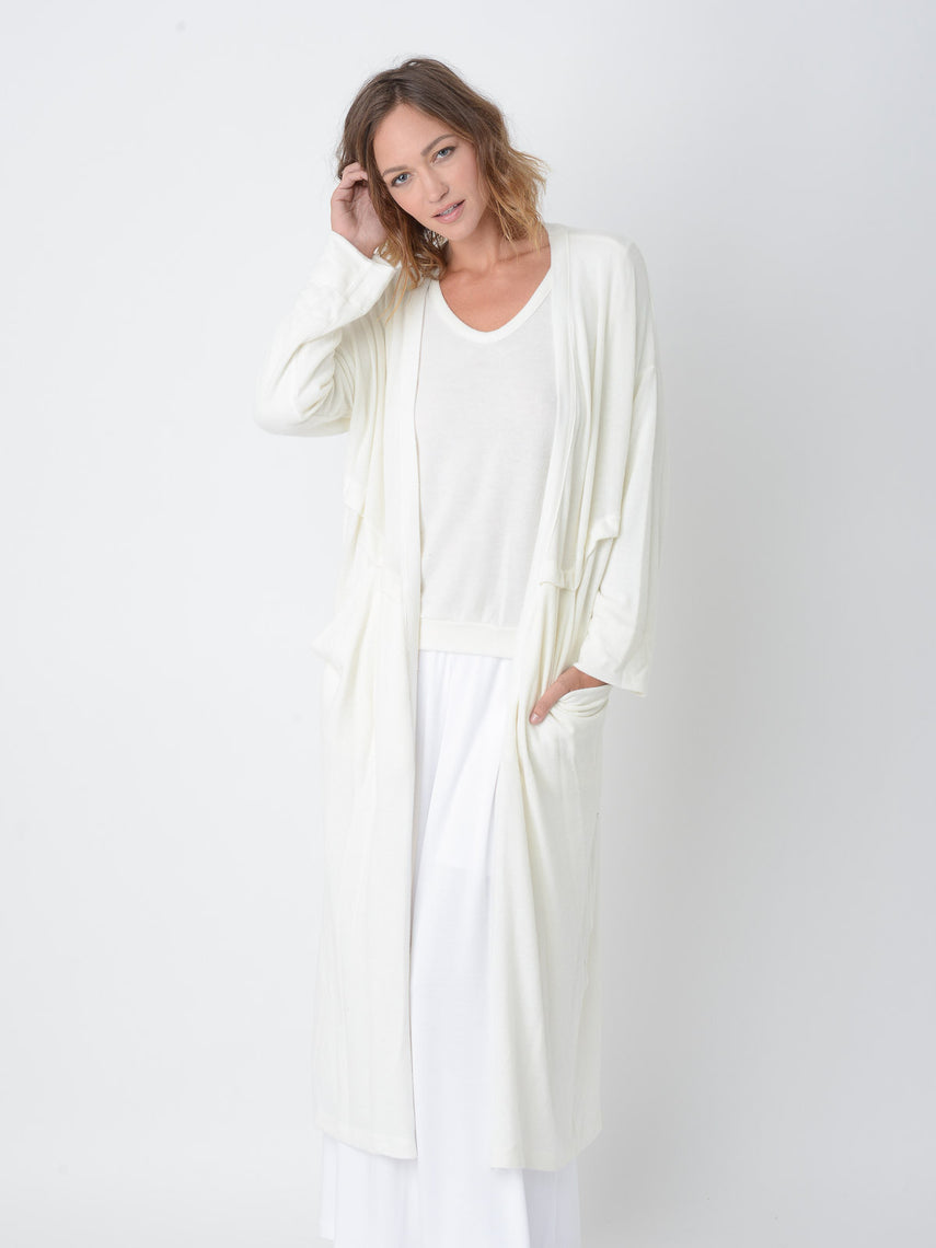 Aster Cardigan Robe / Ivory, Women's, Clothing, Apparel - Drifter Industries