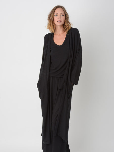 Aster Cardigan Robe / Black, Women's, Clothing, Apparel - Drifter Industries
